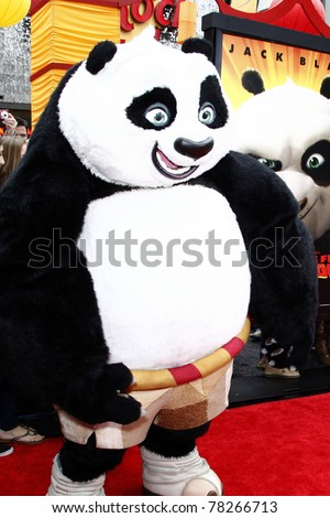 """LOS ANGELES - MAY 22:  Po arriving at the """"Kung Fu Panda 2"""" Los Angeles Premiere at Grauman's Chinese Theatre on May 22, 2011 in Los Angeles, CA - stock photo"""