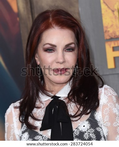 """LOS ANGELES - MAY 07:  Priscilla Presley arrives to the """"Mad Max: Fury Road"""" Los Angeles Premiere  on May 7, 2015 in Hollywood, CA                 - stock photo"""