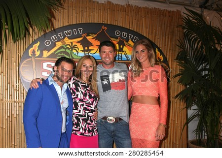 LOS ANGELES - MAY 20:  Rodney Lavoie Jr, Carolyn Rivera, Mike Holloway, Sierra Dawn Thomas at the Survivor Season 30 Finale at the CBS Radford on May 20, 2015 in Studio City, CA - stock photo