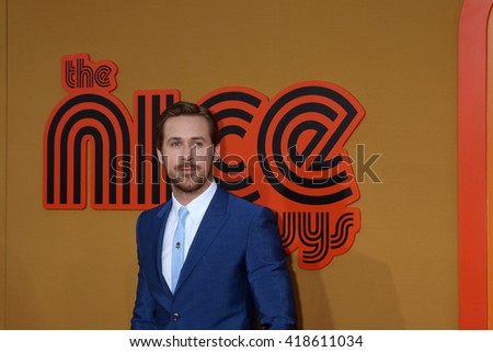 LOS ANGELES - MAY 10:  Ryan Gosling at the The Nice Guys Premiere at the TCL Chinese Theater IMAX on May 10, 2016 in Los Angeles, CA - stock photo