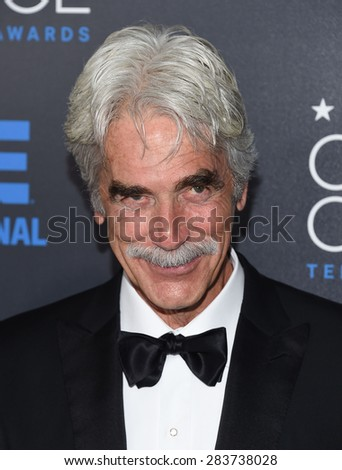 LOS ANGELES - MAY 31:  Sam Elliott arrives to the Critic's Choice Television Awards 2015  on May 31, 2015 in Hollywood, CA                 - stock photo