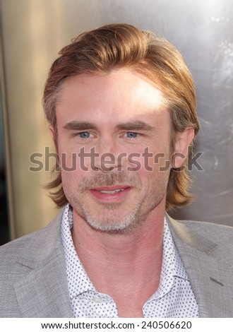 """LOS ANGELES - MAY 30:  SAM TRAMMELL arrives to """"True Blood"""" Season 5 Premiere  on May 30, 2012 in Hollywood, CA                 - stock photo"""