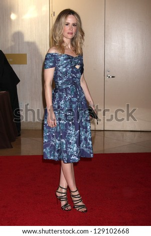 LOS ANGELES - MAY 22:  Sarah Paulson arrives at the 37th Annual Gracie Awards Gala at Beverly Hilton Hotel on May 22, 2012 in Beverly Hills, CA - stock photo