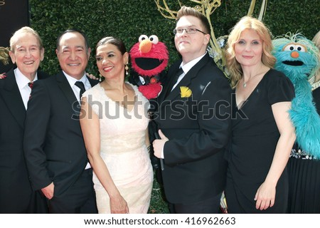 LOS ANGELES - May 1: Sesame Street, Sonia Manzano, Elmo, Cookie Monster at The 43rd Daytime Emmy Awards Gala at the Westin Bonaventure Hotel on May 1, 2016 in Los Angeles, California