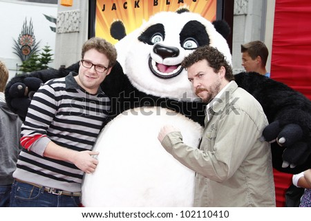 LOS ANGELES - MAY 22:  Seth Rogen, Danny McBride at the premiere of Kung Fu Panda 2 at the Grauman's Chinese Theater in Los Angeles, California on May 22, 2011. - stock photo