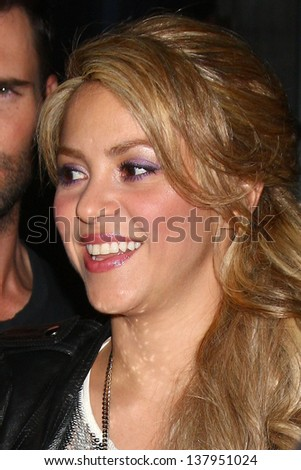 "LOS ANGELES - MAY 8:  Shakira arrives at ""The Voice"" Season 4 Top 12 Event at the House of Blues on May 8, 2013 in West Hollywood, CA - stock photo"