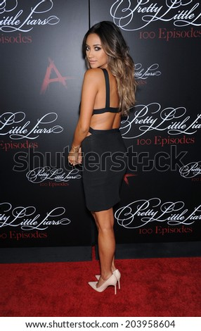 "LOS ANGELES - MAY 31:  Shay Mitchell arrives to the ""Pretty Little Liars"" 100th Episode Celebration  on May31, 2014 in Hollywood, CA."