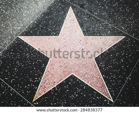 LOS ANGELES - MAY 1: Star on the Hollywood Walk of Fame at Hollywood Blvd on May 1, 2015 in Hollywood, Los Angeles, CA.