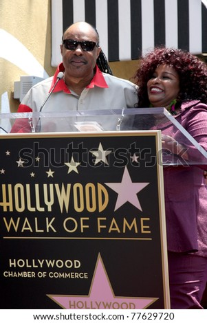 LOS ANGELES - MAY 19:  Stevie Wonder, Chaka Kahn at the Chaka Kahn Hollywood Walk of Fame Star Ceremony at Hollywood Blvd on May 19, 2011 in Los Angeles, CA.