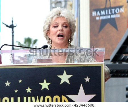 LOS ANGELES - MAY 19:  Susan Seaforth Hayes at the Deidre Hall Hollywood Walk of Fame Ceremony at Hollywood Blvd. on May 19, 2016 in Los Angeles, CA - stock photo