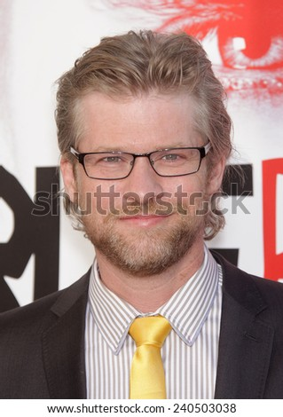"""LOS ANGELES - MAY 30:  TODD LOWE arrives to """"True Blood"""" Season 5 Premiere  on May 30, 2012 in Hollywood, CA                 - stock photo"""