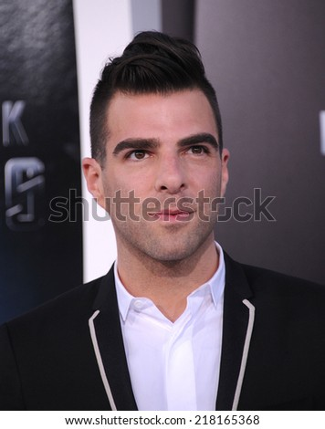 """LOS ANGELES - MAY 14:  Zachary Quinto arrives to the """"Star Trek Into Darkness"""" Los Angeles Premiere  on May 14, 2013 in Hollywood, CA                 - stock photo"""