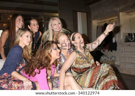 LOS ANGELES - NOV 14:  Alex Meneses and friends, Jadyn Douglas, Penelope Ann Miller, Joely Fisher, and Angeline-Rose Troy at the Naked Princess on November 14, 2015 in Los Angeles, CA