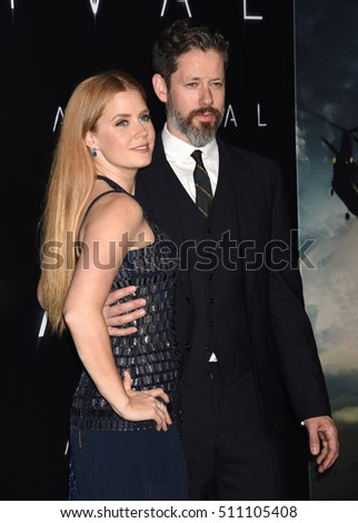 "LOS ANGELES - NOV 6:  Amy Adams and Darren Le Gallo arrives to the ""Arrival"" Los Angeles Premiere  on November 6, 2016 in Westwood, CA"