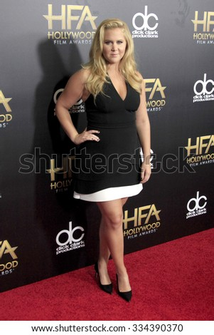 LOS ANGELES - NOV 1:  Amy Schumer at the 19th Annual Hollywood Film Awards at the Beverly Hilton Hotel on November 1, 2015 in Beverly Hills, CA - stock photo