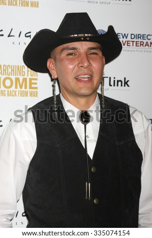 "LOS ANGELES - NOV 2:  Apache Jay Nesahkluah at the ""Searching for Home: Coming Back From War"" Premiere Screening Event at the ArcLight Theaters on November 2, 2015 in Sherman Oaks, CA"