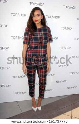 LOS ANGELES - NOV 2:  Ashley Madekwe at the Topshop Celebrates the Holidays at Topshop at The Grove on November 2, 2013 in Los Angeles, CA - stock photo