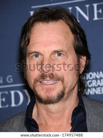 "LOS ANGELES - NOV 04:  Bill Paxton arrives to the ""Killing Kennedy"" Los Angeles Premiere  on November 04, 2013 in Los Angeles, CA                 - stock photo"