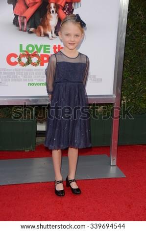 "LOS ANGELES - NOV 12:  Blake Baumgartner at the ""Love the Coopers"" Los Angeles Premiere at the The Grove on November 12, 2015 in Los Angeles, CA - stock photo"