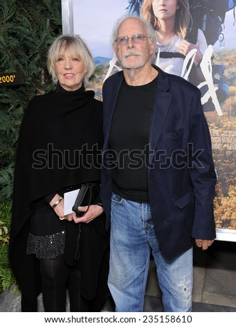 """LOS ANGELES - NOV 19:  Bruce Dern & Andrea Beckett arrives to the """"Wild"""" Los Angeles Premiere on November 19, 2014 in Beverly Hills, CA                 - stock photo"""