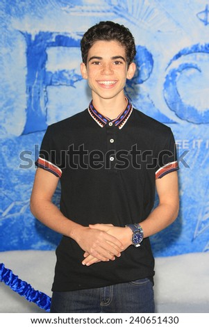 LOS ANGELES - NOV 19: Cameron Boyce at the premiere of Walt Disney Animation Studios' 'Frozen' at the El Capitan Theater on November 19, 2013 in Los Angeles, CA - stock photo