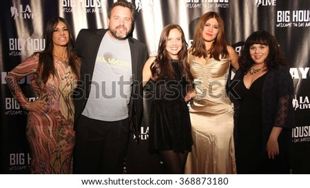 LOS ANGELES - NOV 5: Carolin von Petzholdt and the cast the The Boom Boom Girls of Wrestling Los Angeles Premiere at the Regal Cinemas LA Live on November 5, 2015  in Los Angeles, CA  - stock photo