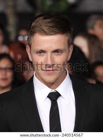 "LOS ANGELES - NOV 11:  Charlie Bewley arrives to the ""The Twilight Saga: Breaking Dawn-Part 2"" World Premiere  on November 11, 2012 in Los Angeles, CA"