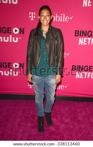 LOS ANGELES - NOV 10:  Christen Press at the T-Mobile Un-carrier X Launch Celebration at the Shrine Auditorium on November 10, 2015 in Los Angeles, CA - stock photo