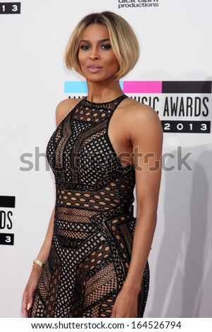 LOS ANGELES - NOV 24:  Ciara at the 2013 American Music Awards Arrivals at Nokia Theater on November 24, 2013 in Los Angeles, CA