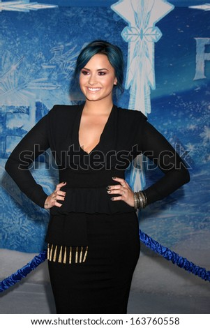"LOS ANGELES - NOV 19:  Demi Lovato at the ""Frozen"" World Premiere at El Capitan Theater on November 19, 2013 in Los Angeles, CA - stock photo"