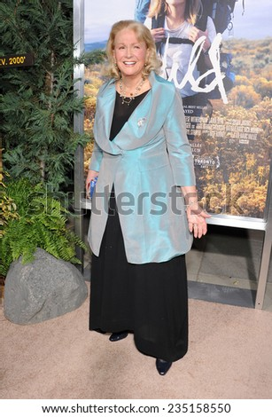 """LOS ANGELES - NOV 19:  Diane Ladd arrives to the """"Wild"""" Los Angeles Premiere on November 19, 2014 in Beverly Hills, CA                 - stock photo"""