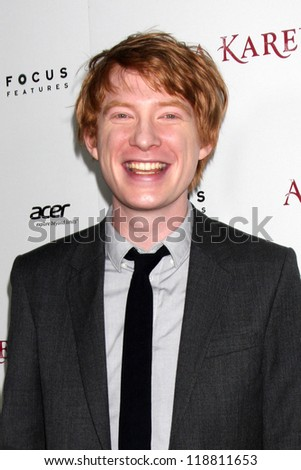 LOS ANGELES - NOV 14:  Domhnall Gleeson arrives to the 'Anna Karenina' Los Angeles Premiere at ArcLight Hollywood on November 14, 2012 in Los Angeles, CA