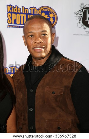 LOS ANGELES - NOV 7:  Dr. Dre, Andre Romelle Young at the Kids In The Spotlight's Movies By Kids, For Kids Film Awards at the Fox Studios on November 7, 2015 in Century City, CA - stock photo