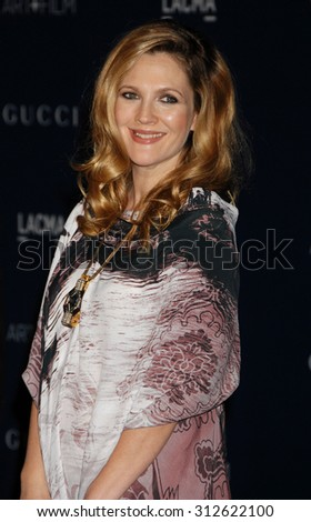 LOS ANGELES - NOV 2:  Drew Barrymore arrives at the LACMA 2013 Art and Film Gala  on November 2, 2013 in Los Angeles, CA                 - stock photo