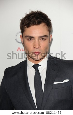 "LOS ANGELES - NOV 3:  Ed Westwick arrives at the AFI FEST 2011 Presented By Audi - ""J. Edgar"" Opening Night Gala at Grauman's Chinese Theater on November 3, 2011 in Los Angeles, CA"
