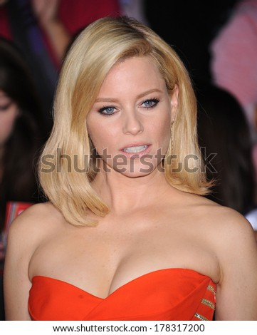 """LOS ANGELES - NOV 18:  Elizabeth Banks arrives to the """"The Hunger Games: Catching Fire"""" Los Angeles Premiere  on November 18, 2013 in Los Angeles, CA                 - stock photo"""