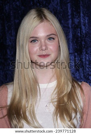 """LOS ANGELES - NOV 22:  ELLE FANNING arrives to the """"Super 8"""" DVD Launch  on November 22, 2011 in Beverly Hills, CA                 - stock photo"""