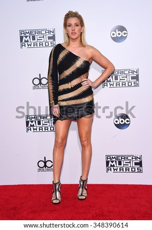 LOS ANGELES - NOV 22:  Ellie Goulding arrives to the American Music Awards 2015  on November 22, 2015 in Los Angeles, CA.