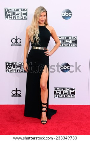 LOS ANGELES - NOV 23:  Fergie, aka Stacy Ferguson Duhamel at the 2014 American Music Awards - Arrivals at the Nokia Theater on November 23, 2014 in Los Angeles, CA - stock photo
