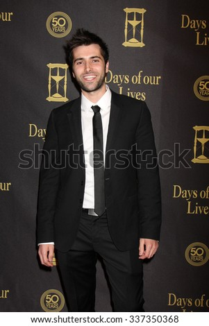LOS ANGELES - NOV 7:  Freddie Smith at the Days of Our Lives 50th Anniversary Party at the Hollywood Palladium on November 7, 2015 in Los Angeles, CA - stock photo