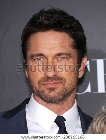 LOS ANGELES - NOV 14:  Gerard Butler arrives to the The Hollywood Film Awards 2014 on November 14, 2014 in Hollywood, CA                 - stock photo