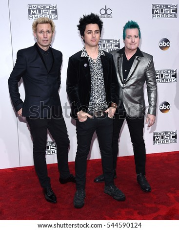 LOS ANGELES - NOV 20:  Green Day arrives to the American Music Awards 2016 on November 20, 2016 in Hollywood, CA