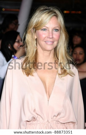 "LOS ANGELES - NOV 14:  Heather Locklear arrives at the ""Twilight: Breaking Dawn Part 1"" World Premiere at Nokia Theater at LA LIve on November 14, 2011 in Los Angeles, CA - stock photo"