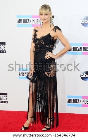 LOS ANGELES - NOV 24: Heidi Klum at the 2013 American Music Awards at Nokia Theater L.A. Live on November 24, 2013 in Los Angeles, California - stock photo