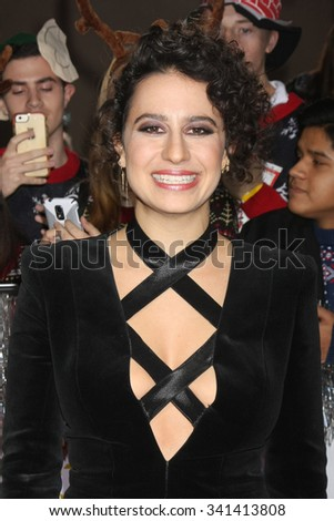 "LOS ANGELES - NOV 17:  Ilana Glazer at the ""The Night Before"" LA Premiere at the The Theatre at The ACE Hotel on November 17, 2015 in Los Angeles, CA - stock photo"