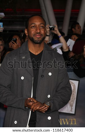 """LOS ANGELES - NOV 12:  Jaleel White arrive to the 'The Twilight Saga: Breaking Dawn - Part 2"""" Premiere at Nokia Theater on November 12, 2012 in Los Angeles, CA - stock photo"""