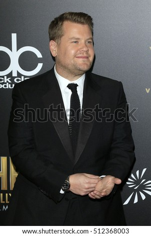 LOS ANGELES - NOV 6:  James Corden at the 20th Annual Hollywood Film Awards  at Beverly Hilton Hotel on November 6, 2016 in Beverly Hills, CA