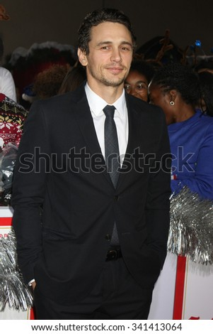 "LOS ANGELES - NOV 17:  James Franco at the ""The Night Before"" LA Premiere at the The Theatre at The ACE Hotel on November 17, 2015 in Los Angeles, CA - stock photo"