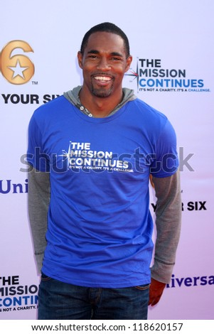 LOS ANGELES - NOV 9:  Jason George at the Veterans Day Service Event to feed LA Children at Globe Theater at Universal Studios on November 9, 2012 in Los Angeles, CA