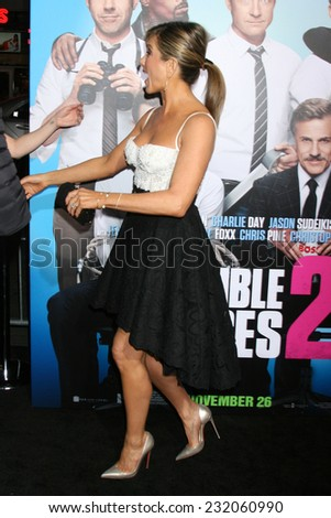 """LOS ANGELES - NOV 20:  Jennifer Aniston at the """"Horrible Bosses 2"""" Premiere at the TCL Chinese Theater on November 20, 2014 in Los Angeles, CA - stock photo"""